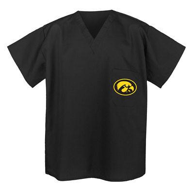University of IOWA Logo SCRUBS Shirts IOWA HAWKEYES 2X OFFICIAL IOWA APPAREL