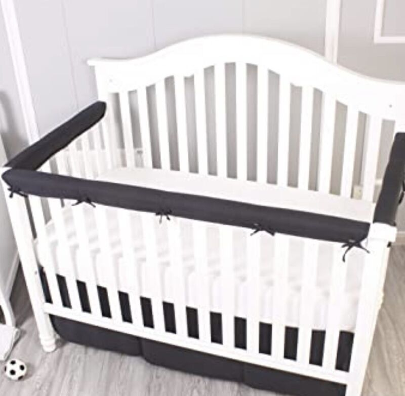 Crib Rail Cover 3 Piece Padded Baby Protector Set From Chewing, Safe Teething
