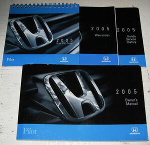 2005 honda pilot owners manual guide 05 set ebay
