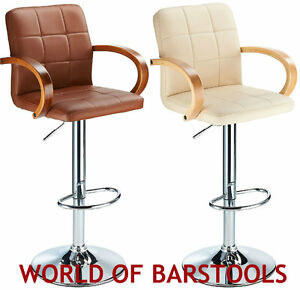 finello breakfast bar stool in black brown and cream ebay