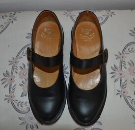 Black, 'Mary Jane', Dr Marten womens' shoes, size 5.