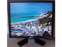 Dell 17 Inches LCD Monitor. Aspect Ratio: 4:3, Comes with power and monitor cables.