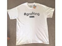Grafting Love Island Official Primark Men's White T-Shirt Medium BNWT Graftin