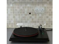 SEE REVOLVER TURNTABLE WITH ADC LMF-2 ARM AND AUDIO TECHNICA AT95E CARTRIDGE (SERVICED AND WORKING)