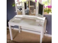 Beautiful hand painted and decoupaged dressing table with mirror