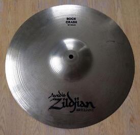 "Zildjian Avedis Brilliant 16"" Rock Crash Cymbal"