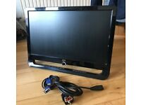 AOC F22S+ 21.5 Widescreen LCD Monitor Used + wall vesa mount and fittings