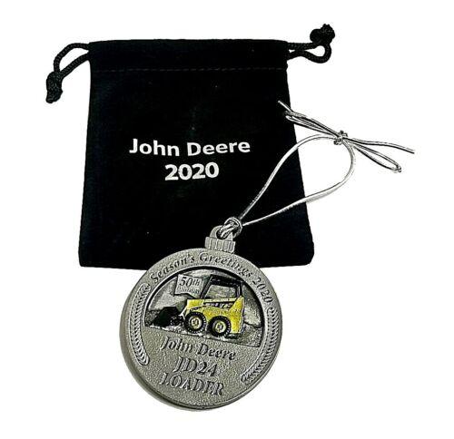 JOHN DEERE 2020 PEWTER JD24 SKID STEER LOADER CHRISTMAS ORNAMENT