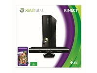 XBOX 360 (Slim) with Kinect and Games - all Boxed