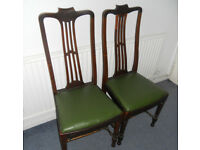 2 Antique Mahogany Dining Chairs
