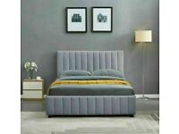 💖🔴LOWEST PRICE IN UK🔵💖PLUSH VELVET DOUBLE SIZE LUCY STORAGE BED FRAME OPT MATTRESS