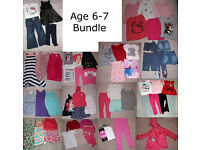 Age 6-7 Girl's Clothes - Huge Bundle - 60 items