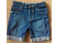 Boys Denim Shorts 2 - 3 Years