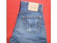 """LEVI'S Red Tab 517 Button-fly Vintage-syle Denim Blue Jeans 32""""/32"""" Straight Leg"""