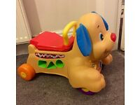 Fisher price musical learning dog ride on/walker