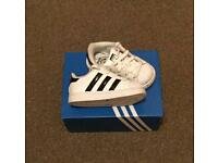 Adidas Superstars infant trainers size 4
