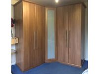 Large Wardrobes, 2 Large Wardrobes with built in drawers and corner unit