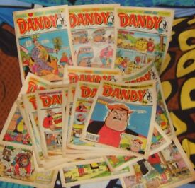 Dandy comics, 1988-89, job lot of 20.