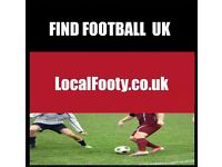 Find football in your local area, play football in your local area, join football team in my area