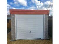 Concrete Sectional Pent Garage 16'2'' x 8'5''