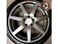 """18"""" Genuine Merc AMG C Class alloys staggered refurb excellent matching tyres."""
