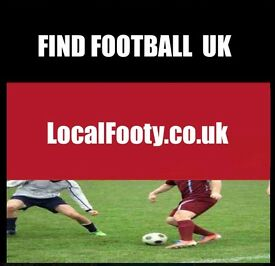 Looking for football in London, Manchester, Birmingham, Glasgow, find football in London, UK