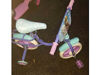Frozen toddler bike