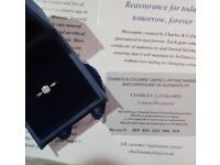 Charles & Colvard. This 9 Carat white Gold Moissanite ½ carat comes with certificate of authenticity
