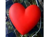 Ikea red heart light.