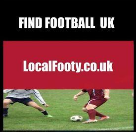 Find football all over NOTTINGHAM, LONDON, MANCHESTER, PLAY FOOTBALL IN LONDON, FIND FOOTBALL