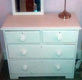 3 sets of wooden bedroom drawers
