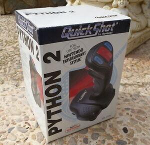 NINTENDO-NES-Joystick-Quickshot-PYTHON-2-Perfecto-estado-En-CAJA