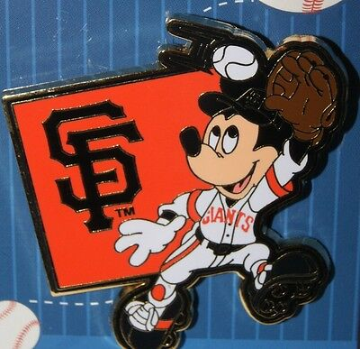 Disney Mickey Mouse Major League Baseball Player SF Giants Pin NEW ON CARD