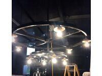 Xxxl 10bulb rustic black chandelier