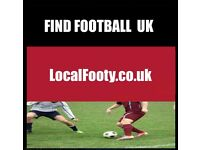 Find football near you, join soccer team, join football team, find a kickabout, lose weight, get fit