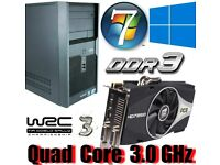 Gaming PC, Intel QUAD CORE 3.0GHz, HD7850 Gddr5 , 6GB Ram, 320GB
