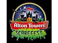 6x 29th october alton towers tickets scare feast
