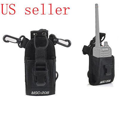 Walkie Talkie Radio Case Pouch Holster Belt For Motorola Kenwood Midland Baofeng