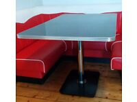 Diner style table black and chrome