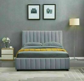 🔵💖TOP QUALITY🔵💖PLUSH VELVET DOUBLE SIZE LUCY STORAGE BED FRAME-CALL NOW