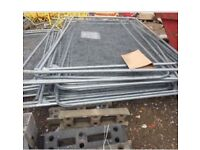 Large heras fencing panels (80 approx) Inc feet