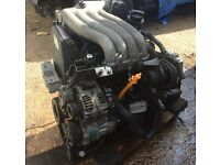 VW NEW BEETLE 2000 2.0 8V PETROL ENGINE AND GEARBOX 5 SPEED MANUAL ENGINE CODE AQY