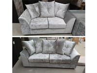 FABRIC/CRUSH VELVETSOFA LUXURY SOFA *DYLAN*CHEAPEST PRICE 3+2/Corner sofa 40234
