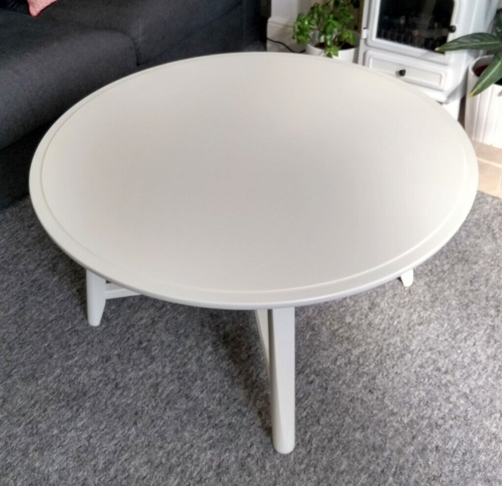 Ikea Kragsta Round White Coffee Table In Excellent Condition 55 Ono In Norwich Norfolk Gumtree