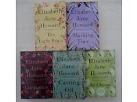ELIZABETH JANE HOWARD – CAZALET CHRONICLES – COMPLETE SET – 5 PAPERBACK BOOKS.
