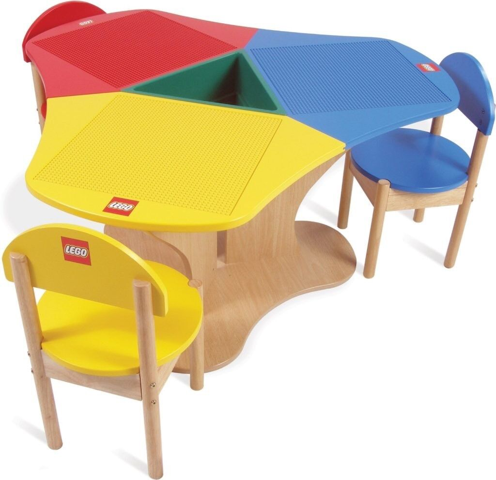 Marvelous Wooden LEGO Table And 3 Chairs £120 LONDON