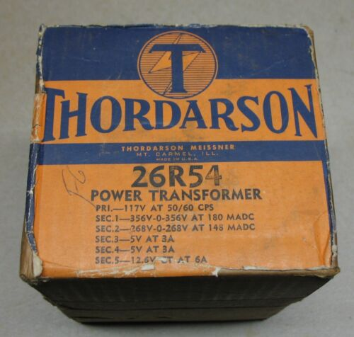 NOS Thordarson 26R54 Tube Power Transformer (Zenith 95-1353)
