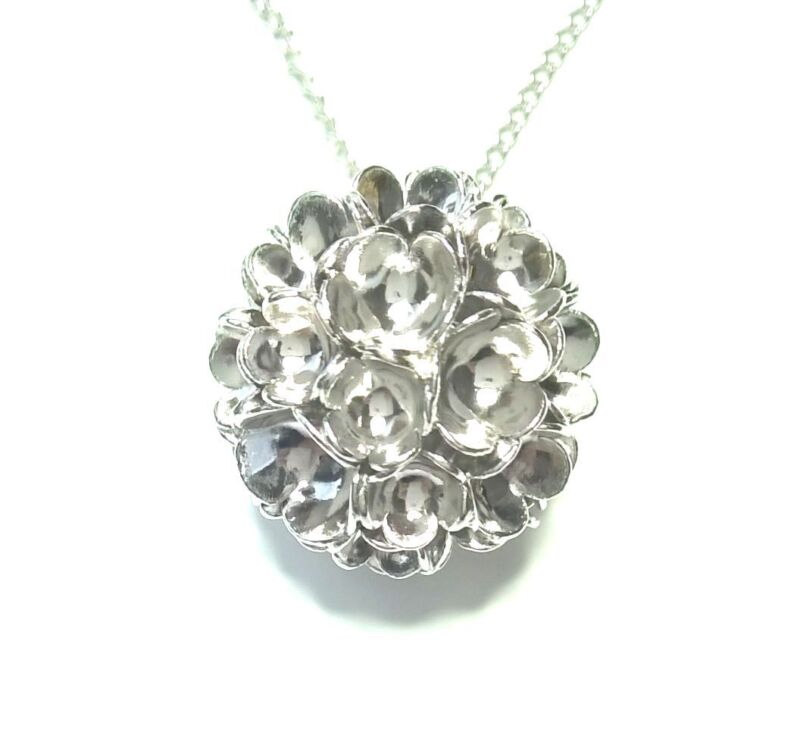 """Liisa Vitali Finland - Sterling Silver Pendant with Chain """"Spring"""" / """"Kevät"""""""