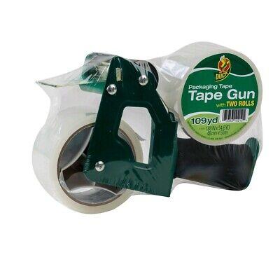Duck Brand Foam Handle Packaging Tape Gun - Clear 1.88 In. X 54.6 Yd 2 Rolls