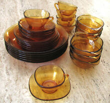 Vintage Retro Amber Glass 30 pc Dinner Set West Pennant Hills The Hills District Preview